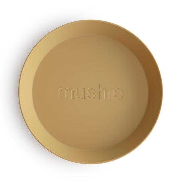 Mushie bordjes mosterd