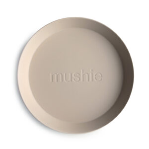 Mushie bordjes vanille