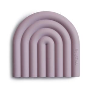 Mushie bijtring regenboog paars