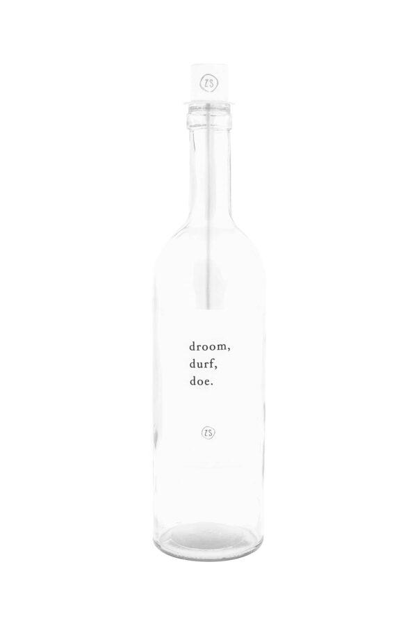 Zusss fles kaarsenhouder wit