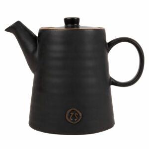 Zusss theepot aardewerk zwart