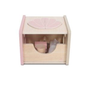 Jollein houten vormenstoof roze