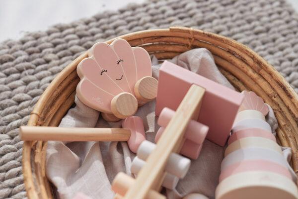 Jollein houten speelgoedauto roze
