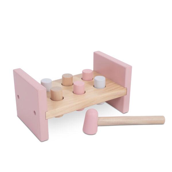 Jollein houten hamerbank roze