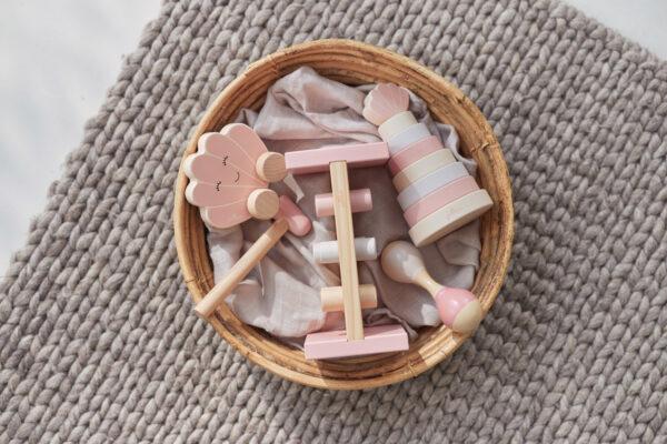 Jollein houten stapeltoren roze