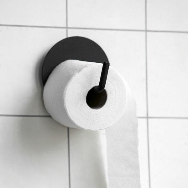 Toiletrolhouder zwart