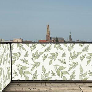 Balkonscherm wit groen