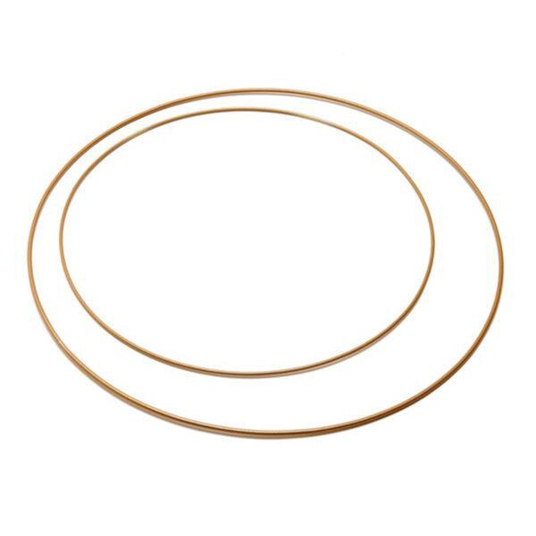 Metalen decoratie ring goud