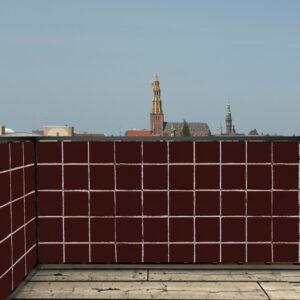 Balkonscherm tegels bruin