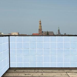 Balkonscherm tegels lichtblauw