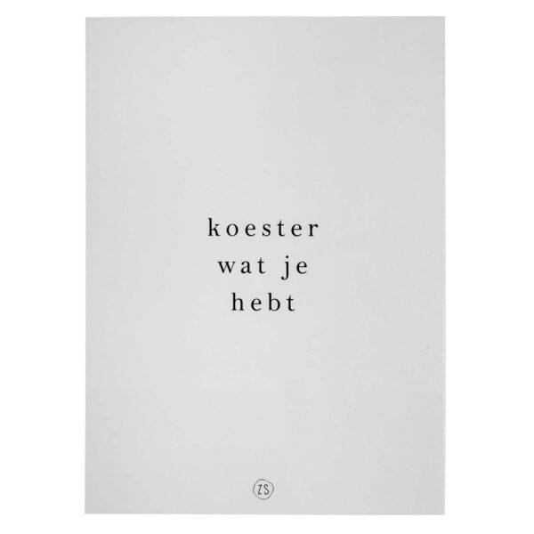 Zusss a4 poster Koester Villa Madelief