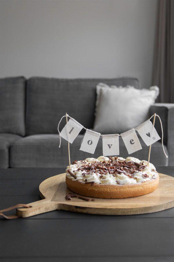 Zusss katoenen taartslinger Love 60cm Villa Madelief