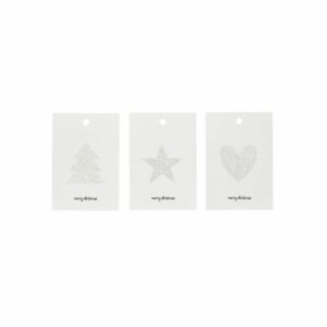 House Doctor gift tags silver