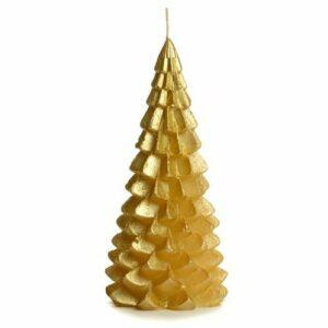 Rustik Lys kerstboom kaars goud