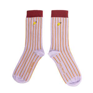 The Sticky Sis Club sokken lila strepen