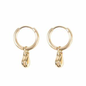 Zusss oorbellen met gouden hangertje