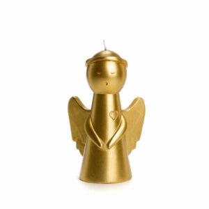 Rustik Lys engel kaars goud