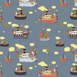 Sinterklaas kadopapier pakjesboot