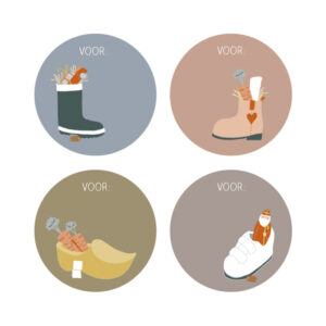 Sint stickers schoen
