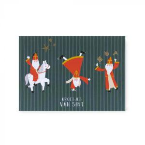 Sinterklaas ansichtkaart acrobaat