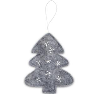 Delight Department kerstboom hanger grijs